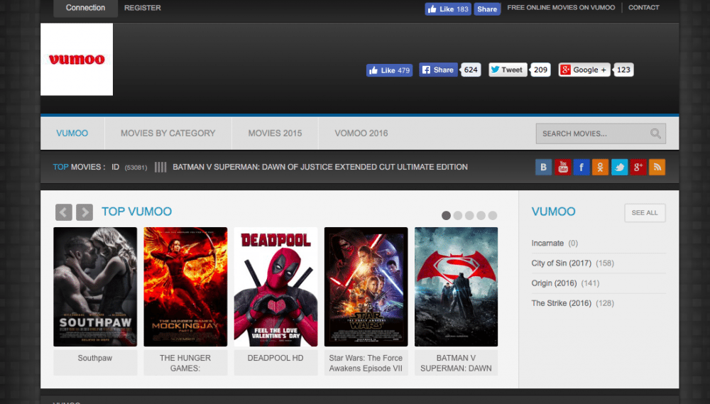 vumoo sites like 123movies