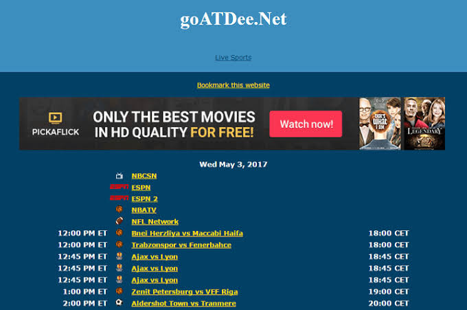 goatdee best sports streaming sites