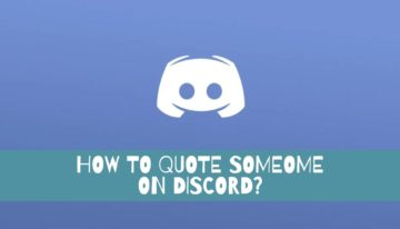how to quote someone on discord