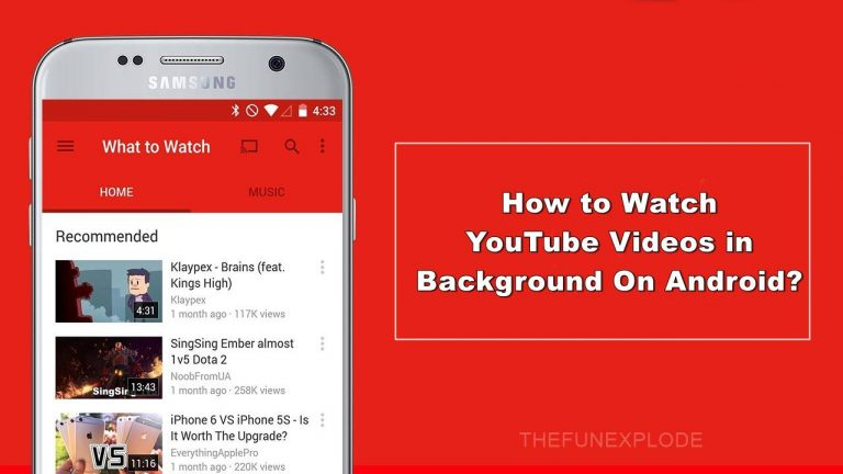 how to watch youtube videos in background on android